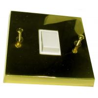 Switch 1 gang 2 Way Polished Brass 6Amp