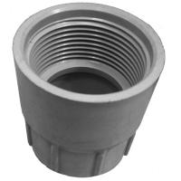 Threaded Female Socket Solvent Weld Waste Fitting Grey 32mm 1-1/4""