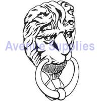 Door Knocker Lion Head Design Polished Brass Victorian 125mm