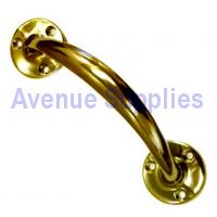 Door Pull Handle Polished Brass Victorian 150mm