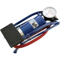 Foot Pump With Gauge Single Barrel