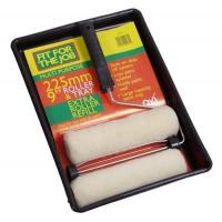 "Paint Roller Tray Frame And Extra Sleeve Refill 225mm / 9"" x 1-1/2"""