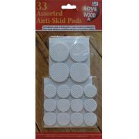 Furniture Pads Anti Skid Self Adhesive Assorted Sizes 33PC