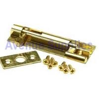 Barrel Door Bolt Necked Polished Brass 150mm x 25mm