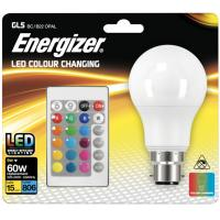 LED Bulb GLS Style Dimmable With Remote Colour Changing BC / B22 806LM / 9W