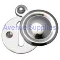 Covered Escutcheon Polished Chrome Victorian 33mm