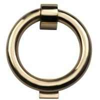Door Knocker Ring Handle Polished Brass 114mm