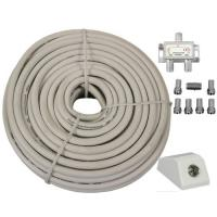 Coaxial / Satellite Cable DIY Extension  Kit 15m