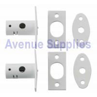 Casement Window Security Rack Bolt White 2PC
