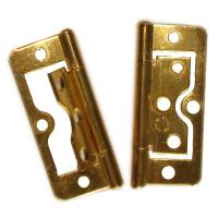 Flush Hinges Brass Plated 60mm 2PC