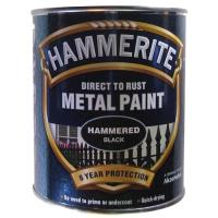 Direct to Rust Metal Paint Hammered Black 750ml