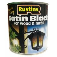 Wood And Metal Paint Satin Black 500ml